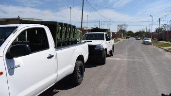 Distribuyeron nuevos contenedores en distintos sectores de Paraná