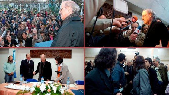Honrado en la universidad y aplaudido en la plaza: Recuerdo de Quino en Paraná