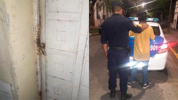 Menor pateó la puerta de una casa para entrar a robar en el centro de Paraná
