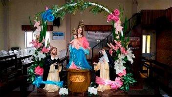 Inicia novena patronal de Oro Verde en honor a la virgen del Rosario de Pompeya