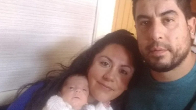 Lautaro Valentín y su familia