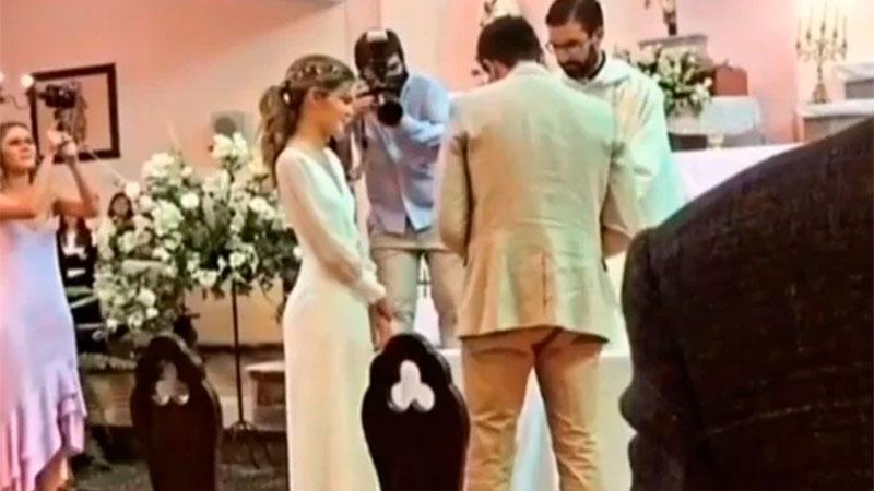 Las fotos de la ceremonia y la fiesta fueron publicadas en las redes sociales