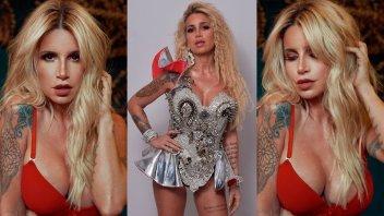 Florencia Peña: Lencería roja, gran escote y  los looks que