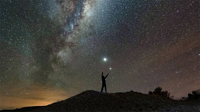 """""""Jupiter y Saturno"""", la foto destacada por la NASA"""