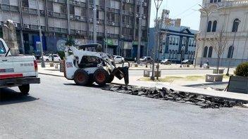 Repararon pozos en calle Laprida y construirán una dársena para colectivos