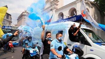Caravana de colectivos, camiones y autos: qué dijo Moyano en día de la Lealtad