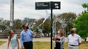 Homenajearon al intendente Juan Carlos Esparza en el Día de la Lealtad