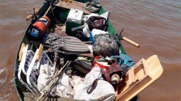 Atraparon a cazadores cuando trasladaban animales faenados en un bote