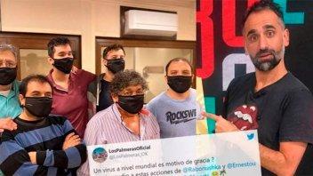 Los Palmeras, aislados: Repudiaron a periodista que se burló de los contagios