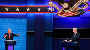 Trump y Biden, en el último debate presidencial antes de las elecciones en EEUU