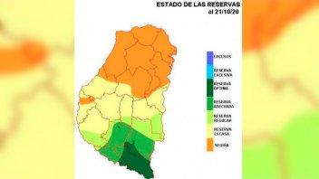 Sequía en zona de Entre Ríos: Aguardan que se concrete el pronóstico de lluvias