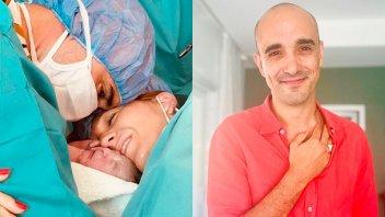 Máxima felicidad: Abel Pintos mostró la primera foto de su hijo