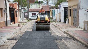 Bachean calle Necochea y mejoran otras arterias de Paraná