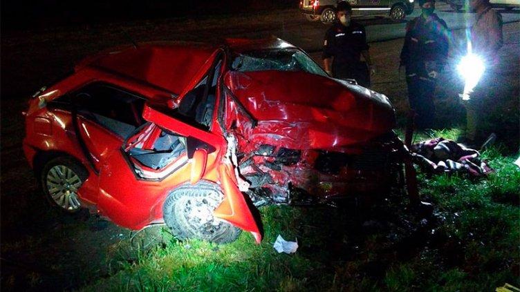 Un joven falleció tras chocar contra una columna de alta tensión en Ruta 26