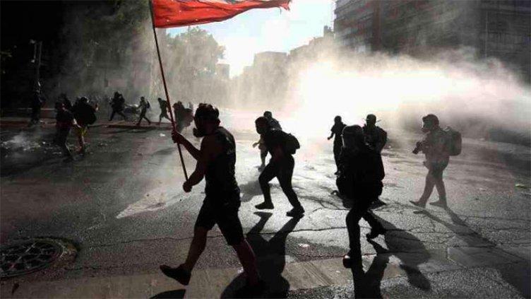 Protestas en Chile en la previa de histórico plebiscito para nueva Constitución