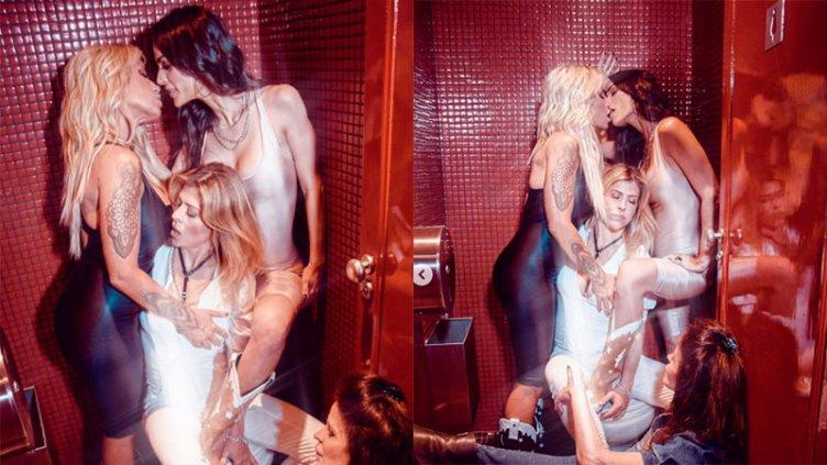 Provocadora sesión de fotos: Flor Peña acarició y besó a una amiga