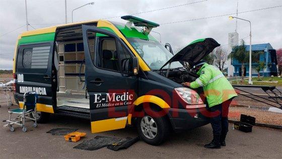 Hallaron más de dos kilos de cocaína en una ambulancia