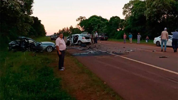 Tres personas murieron tras un triple choque en la ruta 14 en Misiones