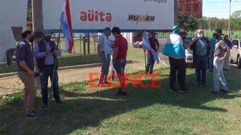 Ruralistas concentraron en el ingreso al Túnel en apoyo a los Etchevehere