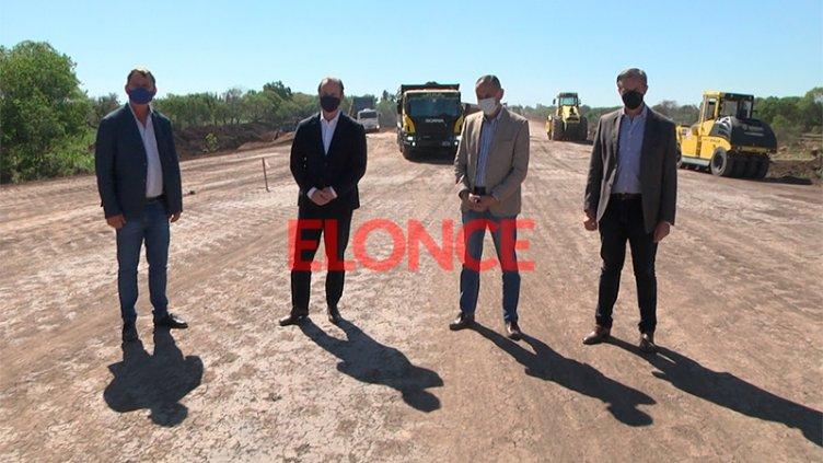 Arrieta recorrió obras en Paraná junto al gobernador Bordet y el intendente Bahl
