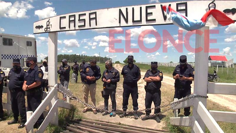 Etchevehere vs. Etchevehere: Llegó la orden de desalojo al operativo policial