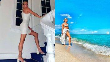 Nicole Neumann celebró sus 40 años en Miami junto a sus hijas