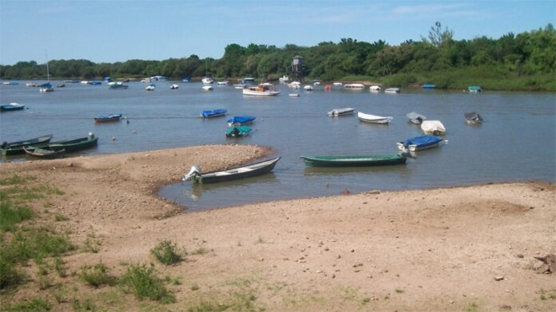 Pronunciada bajante del río Uruguay
