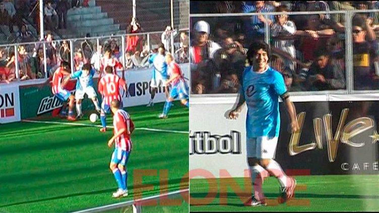 Toda una leyenda: el día que Diego Maradona jugó en la cancha de Patronato