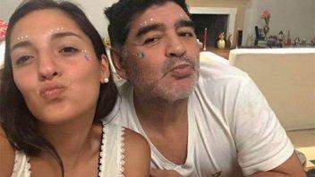 Jana, hija de Maradona, lo despidió en las redes y dijo: