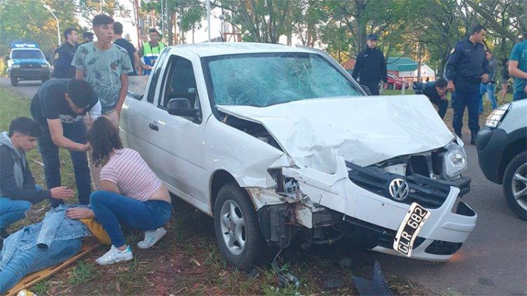 Pudo ser una tragedia: conductor alcoholizado atropelló a siete jóvenes