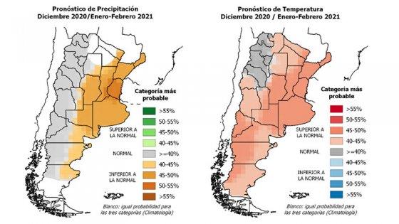 La escasez de lluvias y el calor superior al normal se extenderían hasta febrero