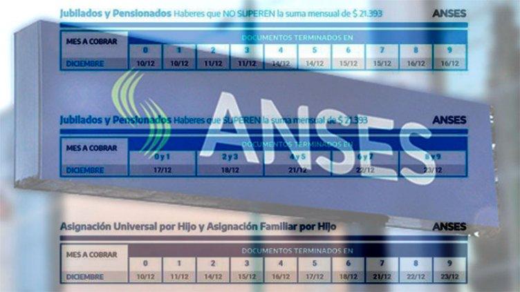Jubilaciones, pensiones y AUH: Los cronogramas de pagos de Anses para diciembre