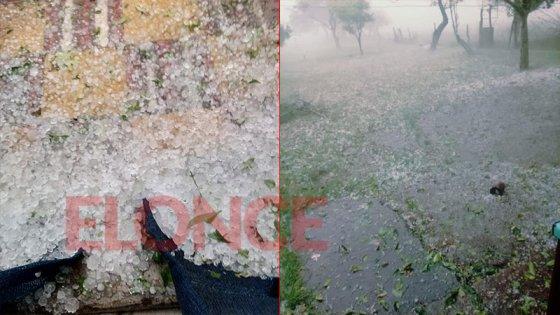 Videos y fotos: El granizo hizo estragos en algunas zonas de Entre Ríos