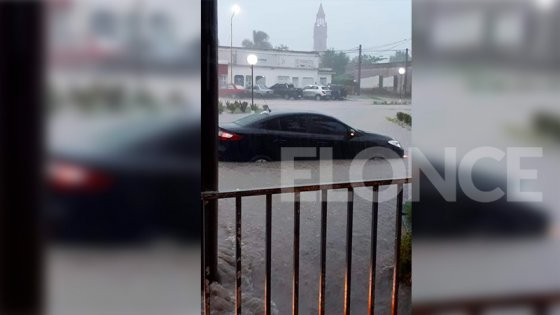 Anegamientos y desagües desbordados por más de 150mm de lluvia en María Grande