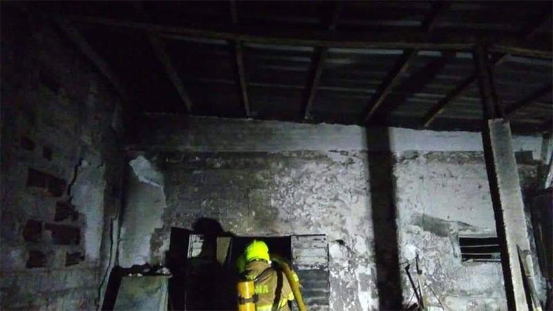 Así quedó la vivienda tras el incendio