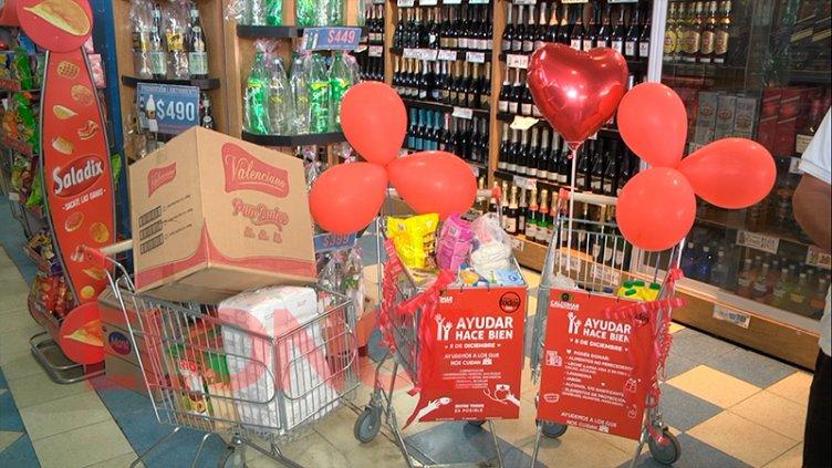 Ayudar Hace Bien: con gran expectativa inició la colecta en Carritos Solidarios