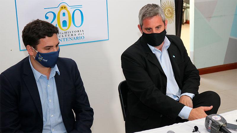 Bastián y Walser, en la Casa del Bicentenario.