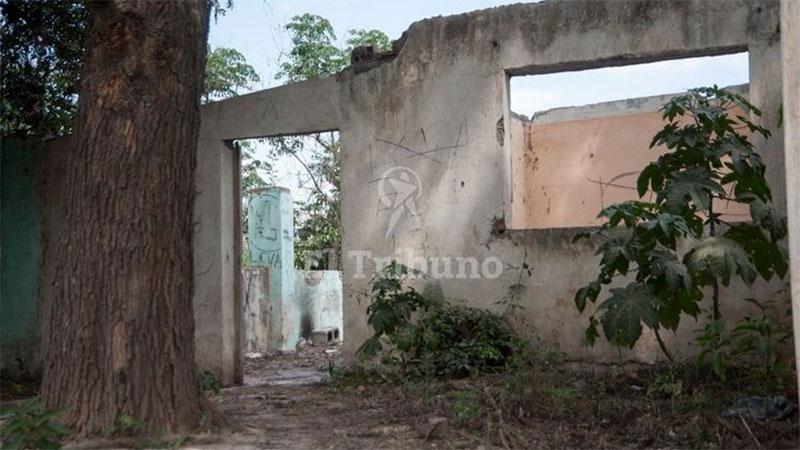 El lugar donde murió la joven
