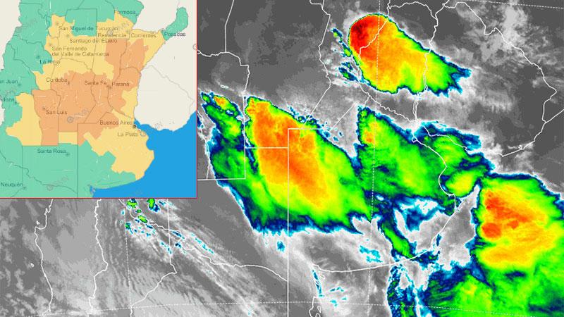 Imagen satelital de las 5.00 de este lunes