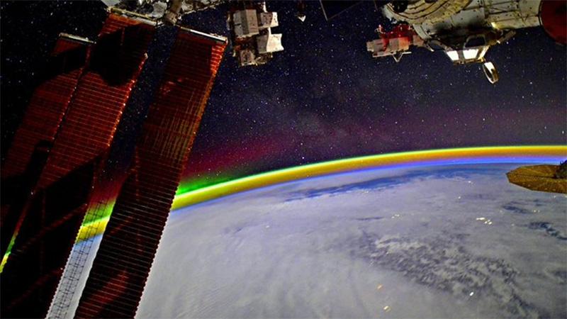 El arco iris captado por el astronauta