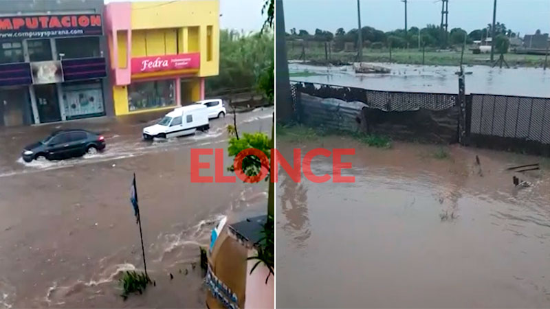Intensas lluvias en poco tiempo: hubo voladuras de techos y árboles caídos
