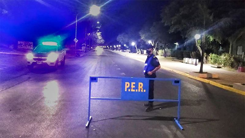 Restricción nocturna: hicieron 55 notificaciones esta madrugada en Paraná