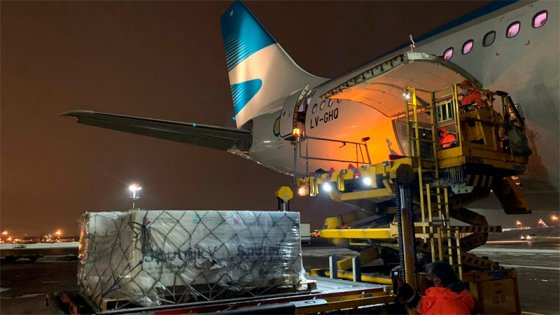 Avión de Aerolíneas Argentinas regresa a Argentina con dosis de Sputnik V