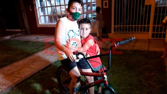 Niño de 11 años recuperó la bicicleta que le habían robado