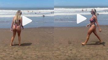Nati Jota publicó un video en bikini y recibió comentarios que no le agradaron