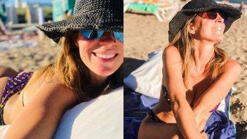 """Feliz"", Sandra Borghi se mostró en bikini desde Pinamar"
