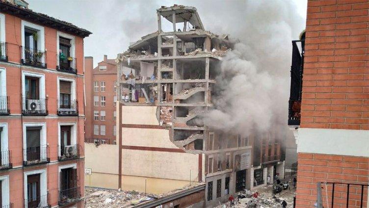 España: al menos dos muertos por impresionante explosión en edificio de Madrid