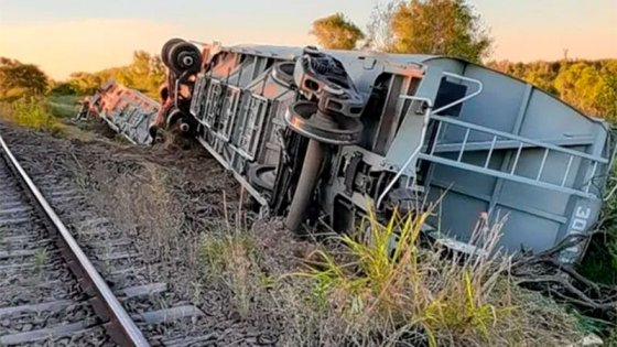 """Tren descarrilado: """"No hubo heridos ni terceros involucrados"""""""
