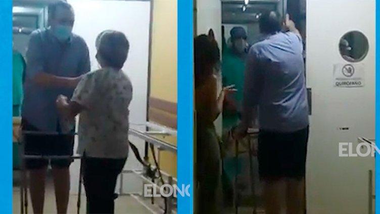 Emoción: médico que estuvo grave por Covid, se recuperó y saludó a compañeros