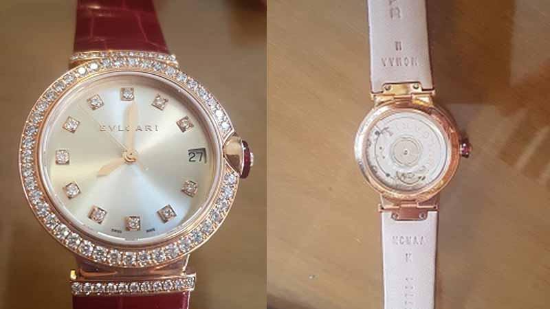 El reloj Bulgari tiene una base de $ 1.467.725,00